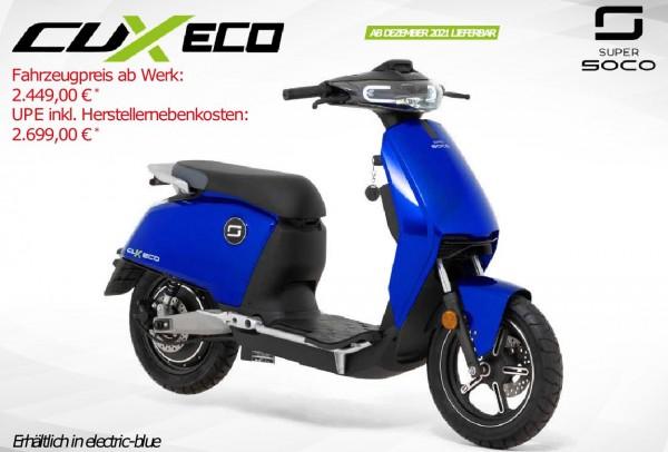 Super Soco CUX Eco - 45km/h - Elektroroller mit Bosch Motor